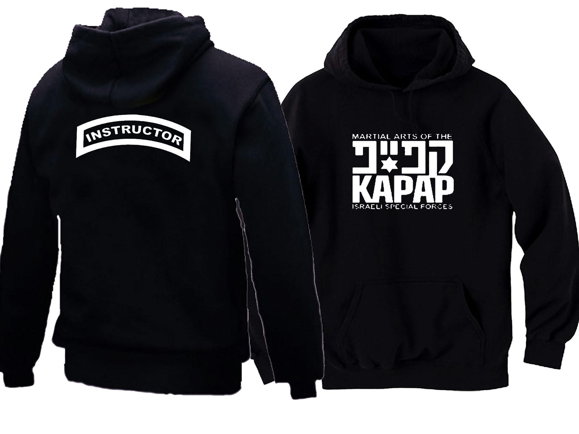 Krav Maga Israel Defence Martial Combat Black Hoodie Pull Over Hooded Sweatshirt